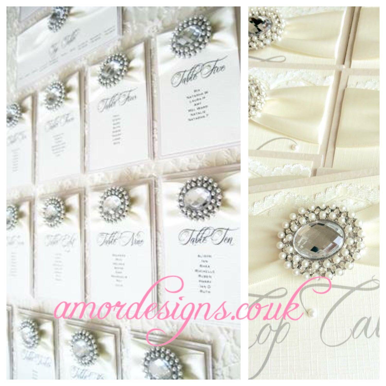 Luxury framed wedding table plans