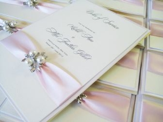 Order of service wedding books