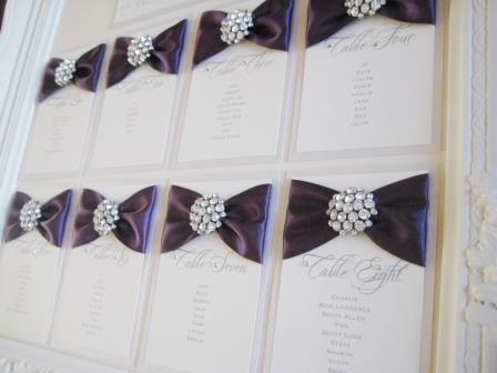 Diamante table plan with frame