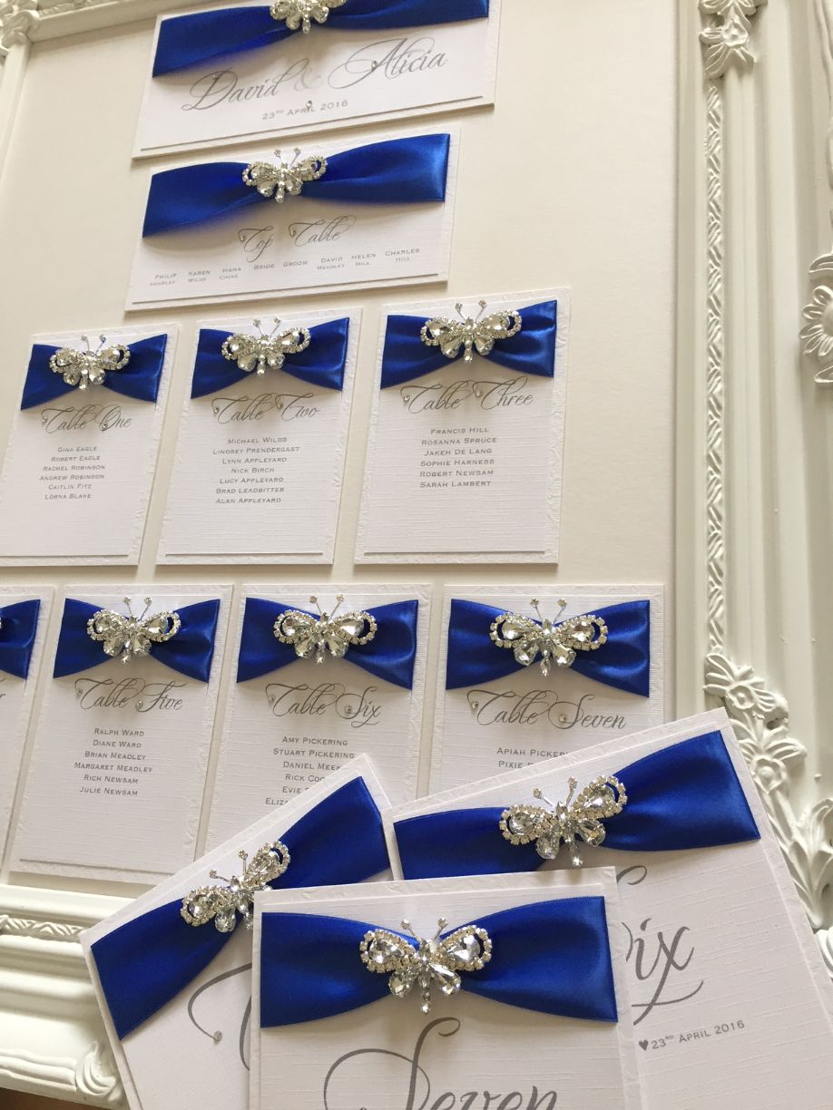 royal blue and butterfly seating plan