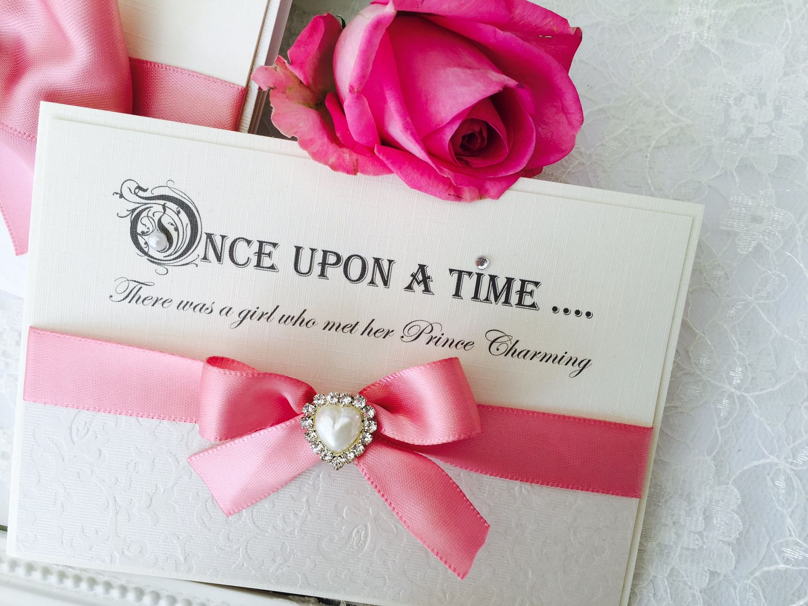 Save the date cards printed with fairytale quotes