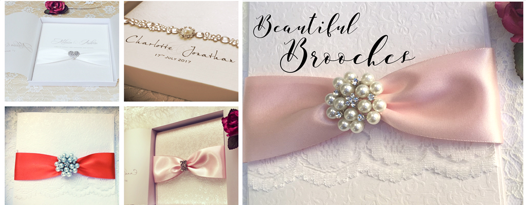Beautiful Invitations Designed with Brooches