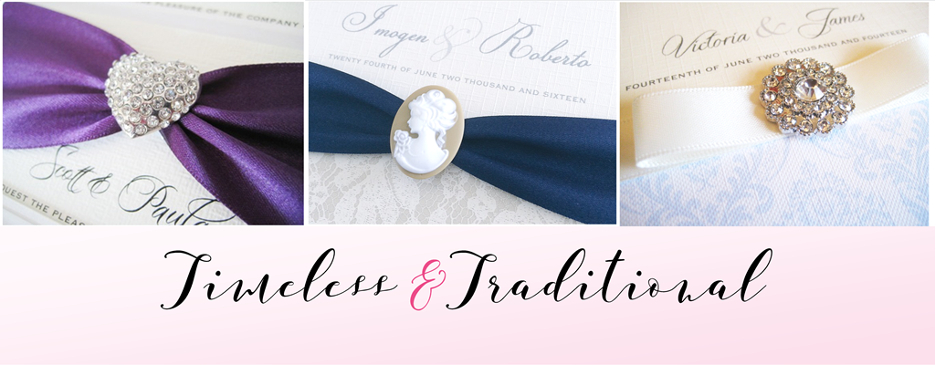 Timeless and Traditional wedding invitations
