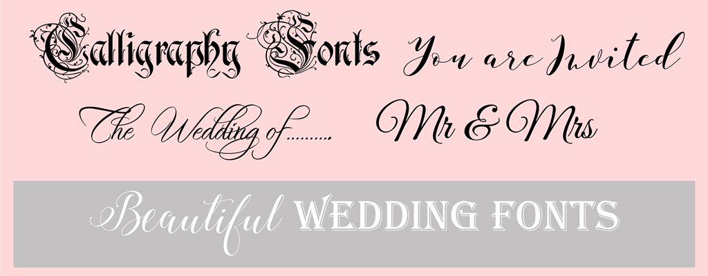 Beautiful calligraphy wedding fonts for your invitations