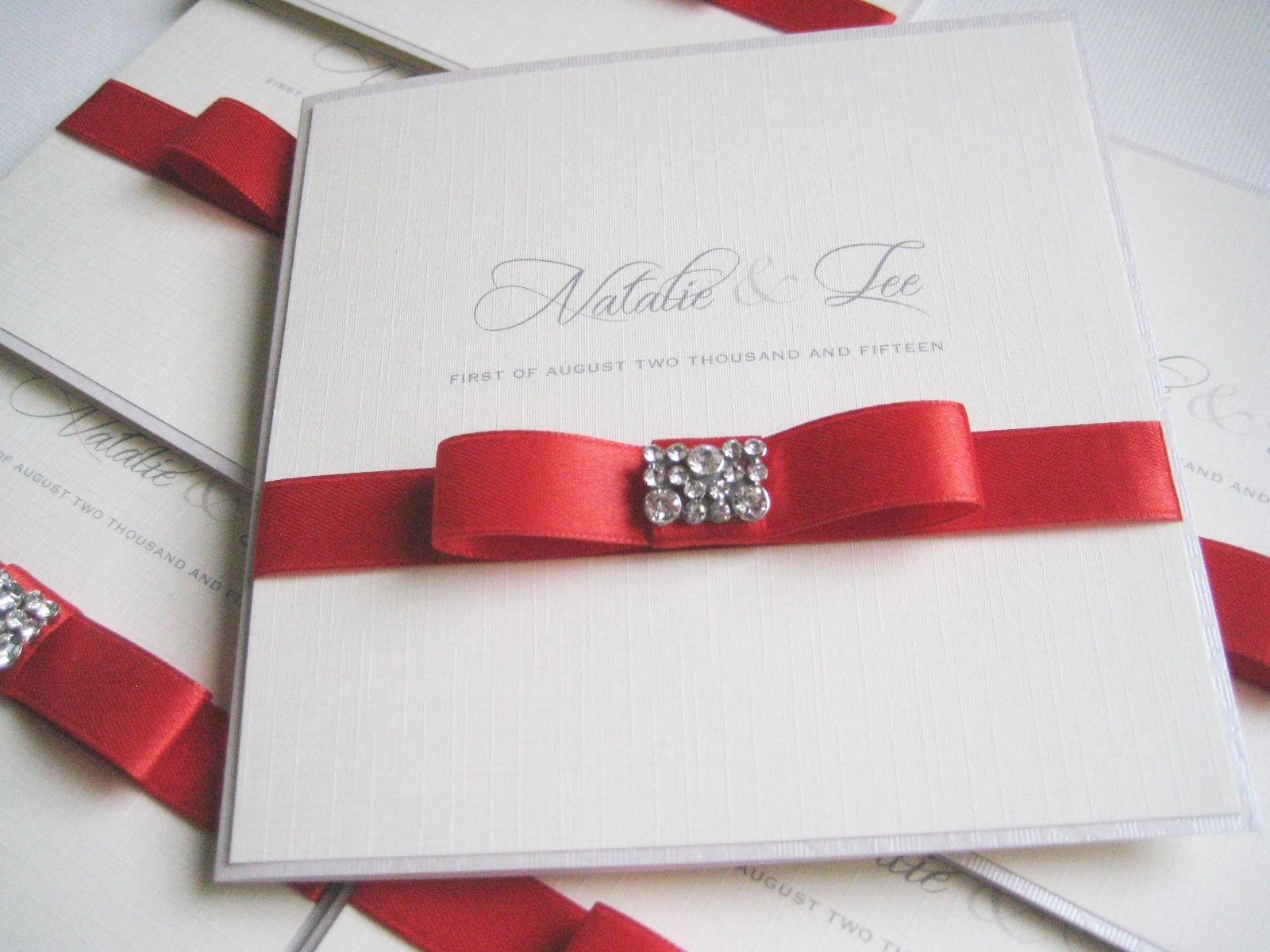 Diamante dior bow invitations