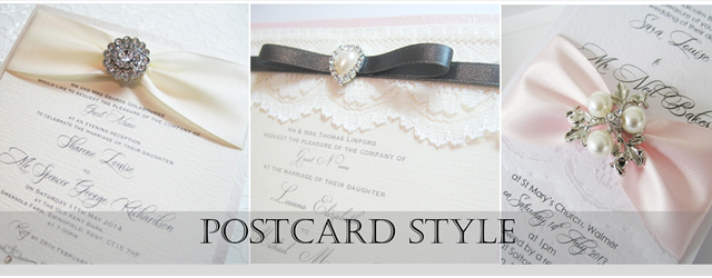 Flat postcard style invitations for evening guests