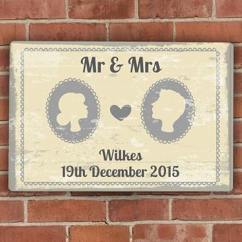 Large Wedding Reception Personalised Sign