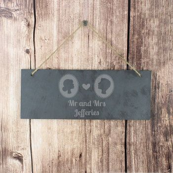 Slate Hanging Personalised Wedding Plaque Sign