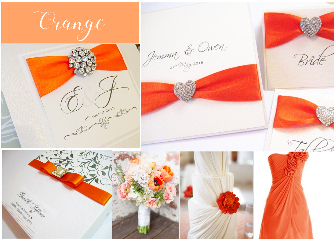 Orange wedding invitation ideas