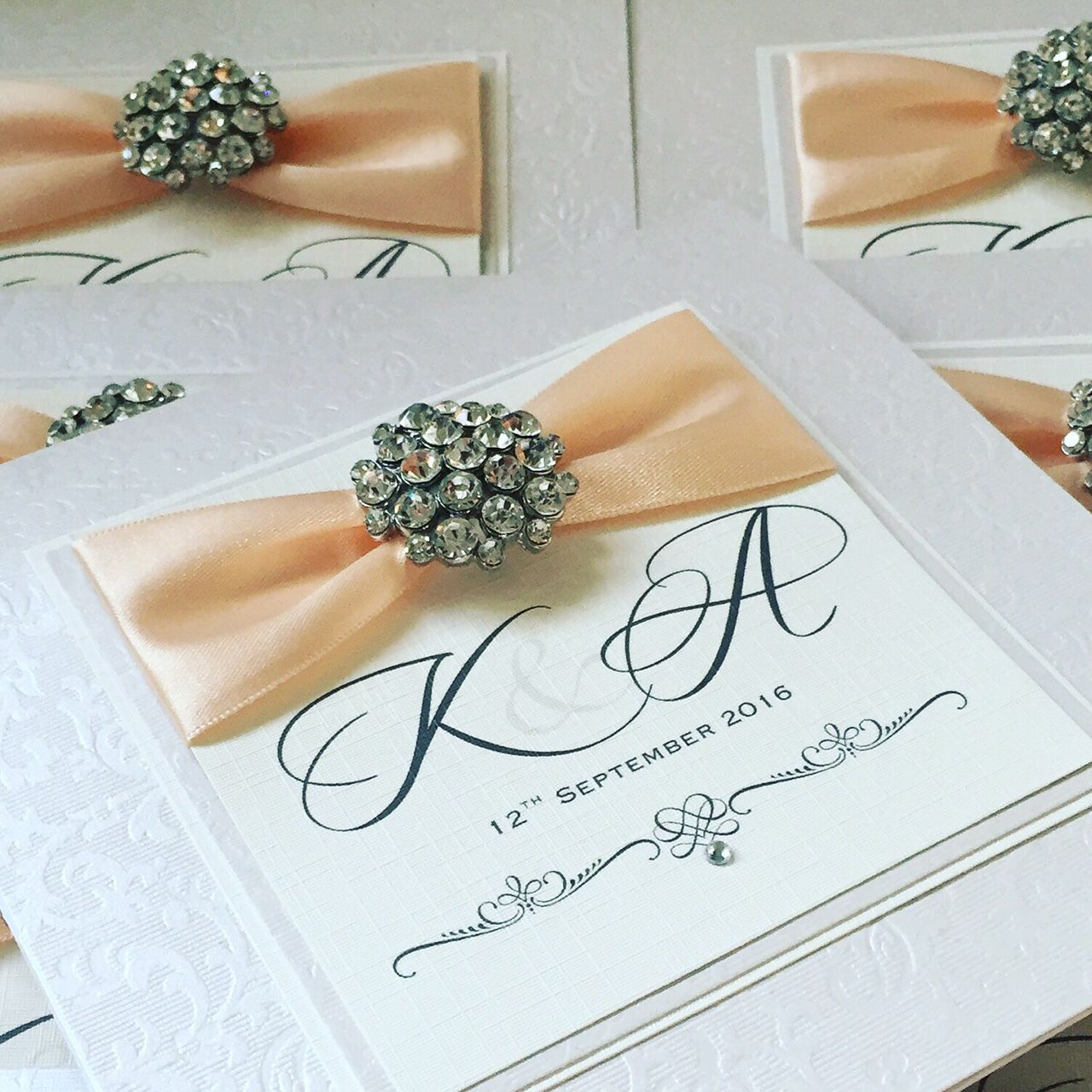 wedding invitations with bride and groom initials