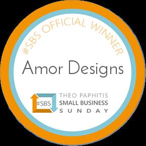 Amor Designs Theo Pathitis small business sunday winner