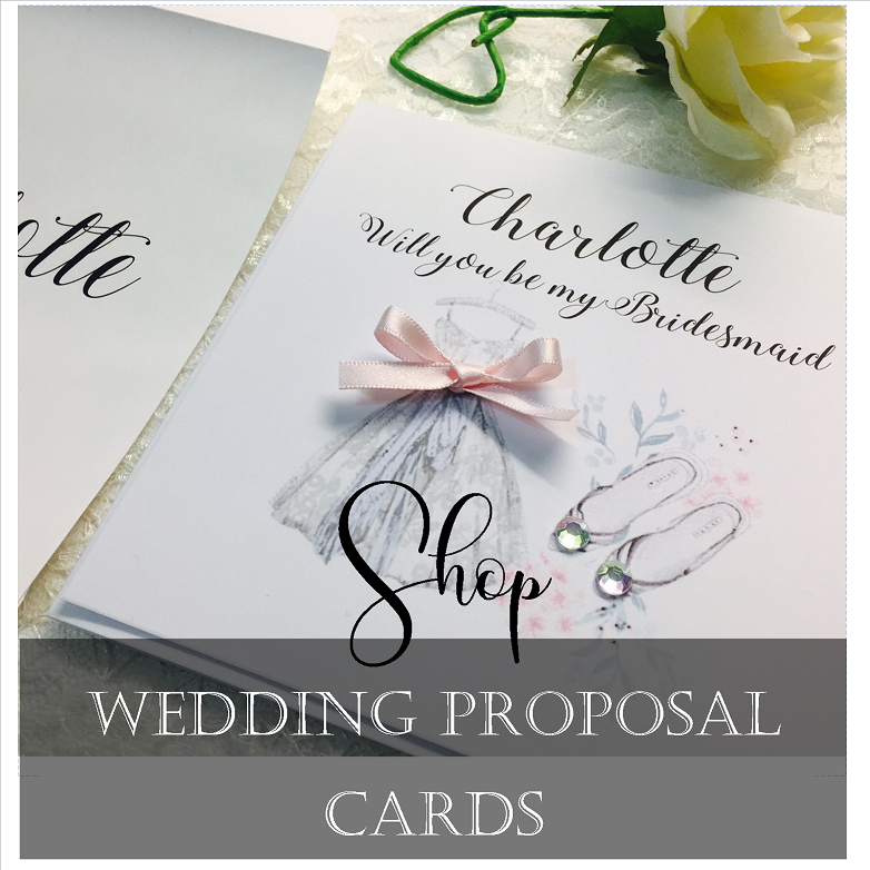 Wedding Proposal cards for Bridesmaids, maid of honour and flower girls