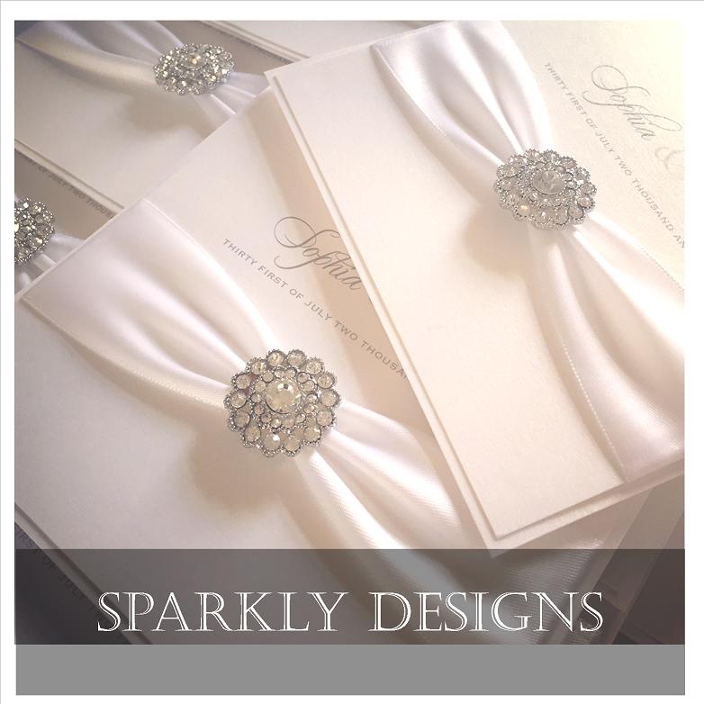 Luxury stylish and sparkly wedding invitations