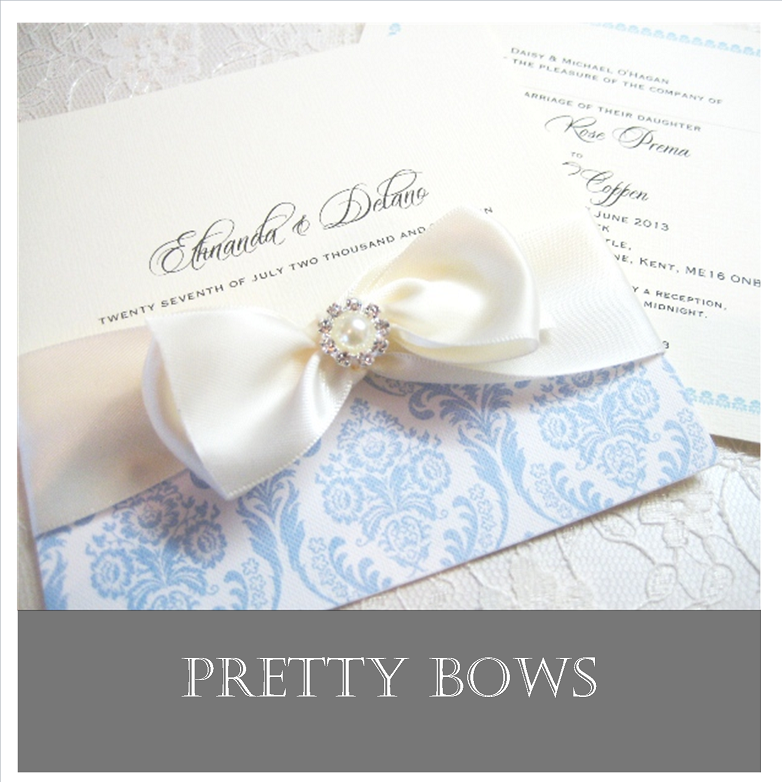 Wedding Invitations with pretty bows