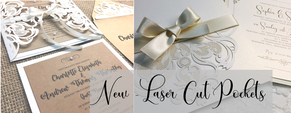 New Laser Cut Pocket envelope invitations