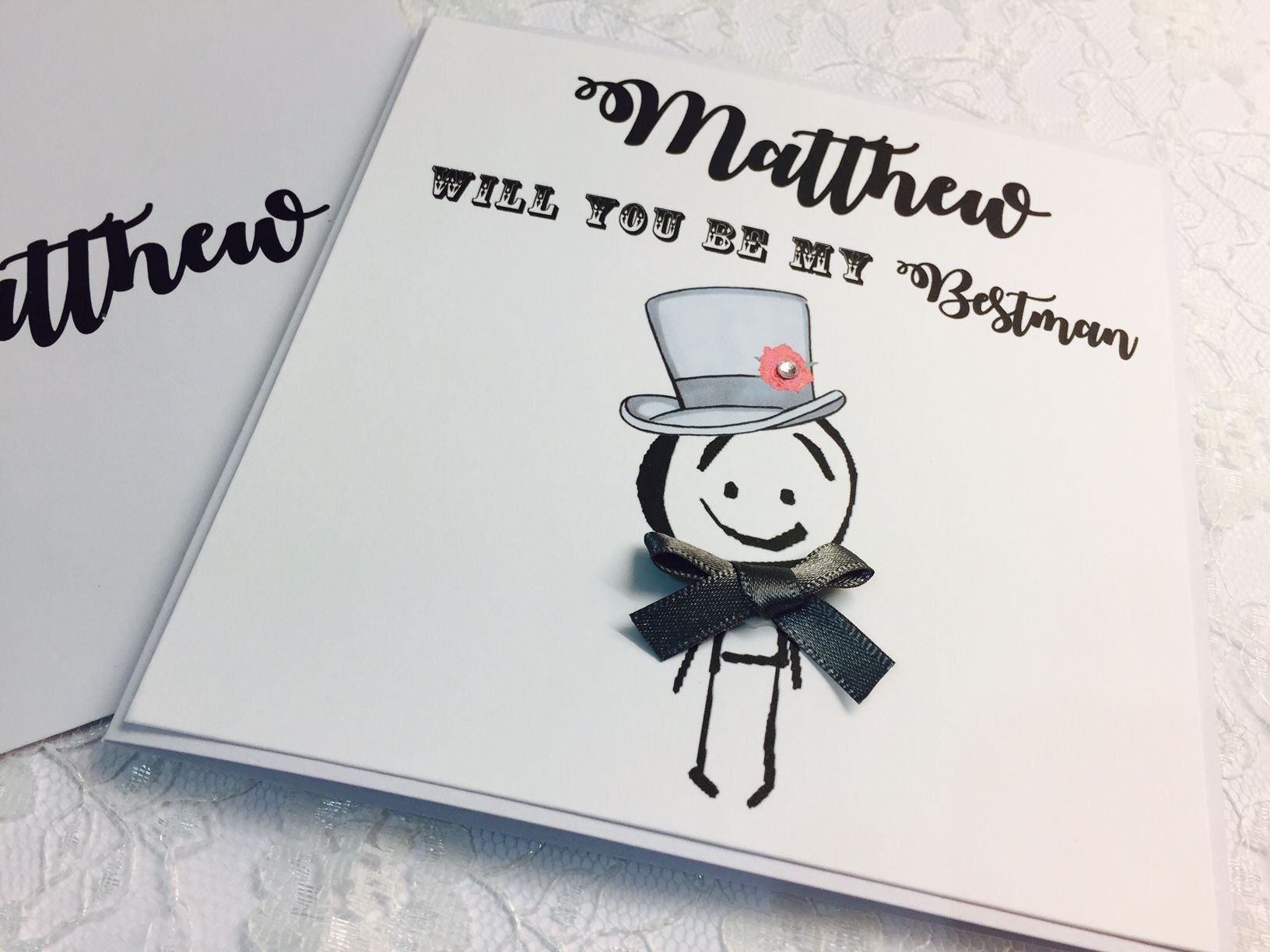 Be my bestman personalised card