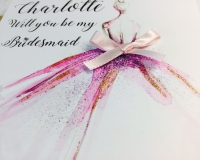 Be my Bridesmaid, maid of honour and flower girl glitter dress personalised