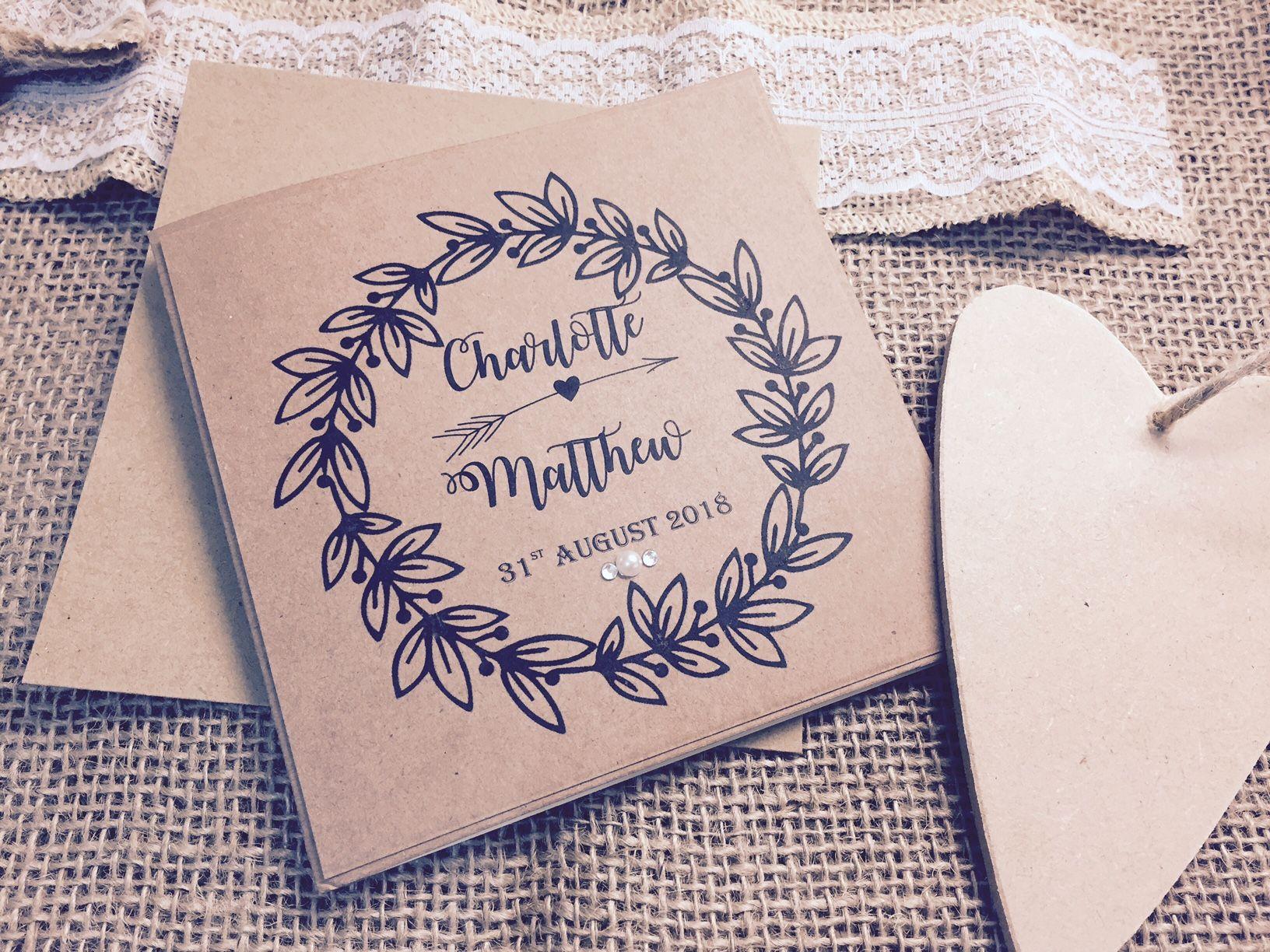 Beautiful rustic style invitation