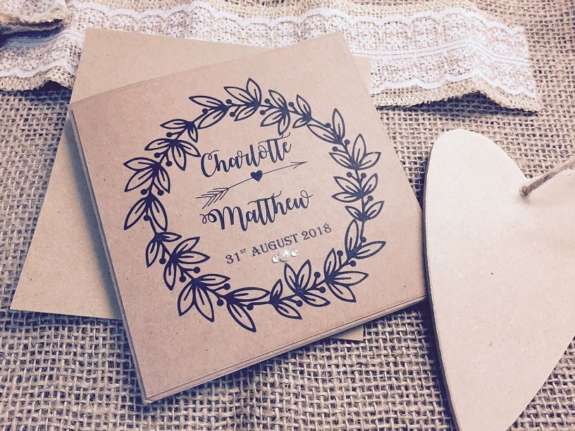 Rustic shabby chic wedding invitation