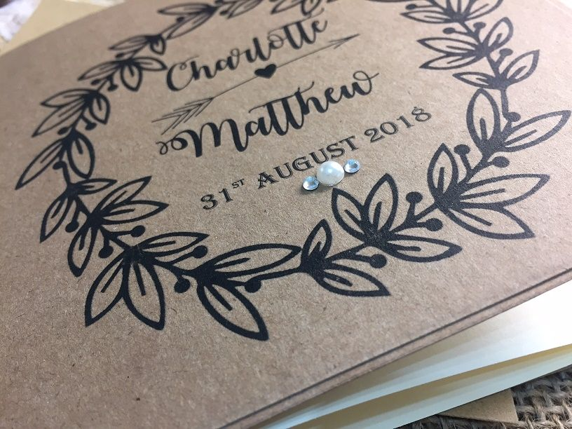 Rustic invitations for a barn wedding