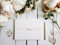 Personalised luxury guest books for your wedding day