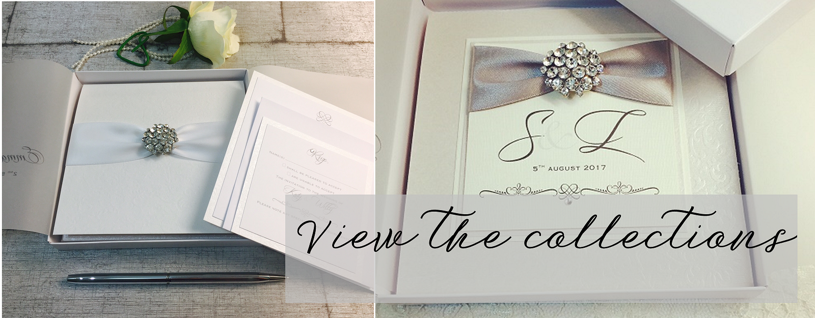Luxury boxed wedding invitations by Amor Designs