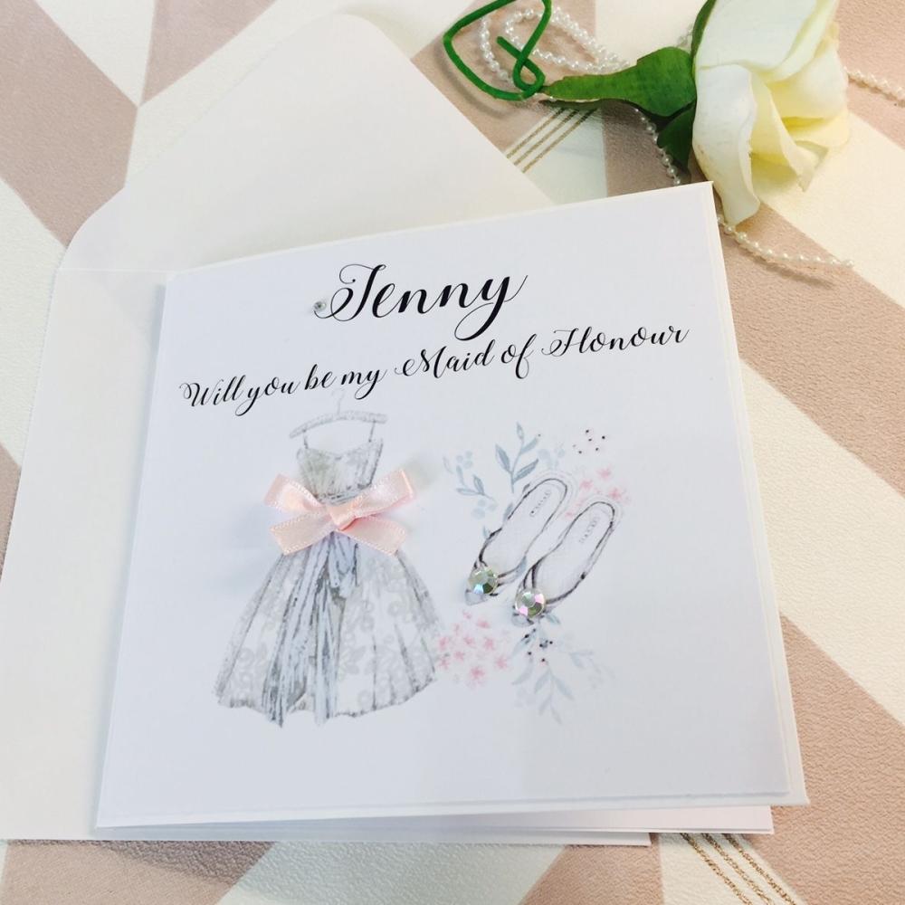 Bridesmaid Dress Invitation Card