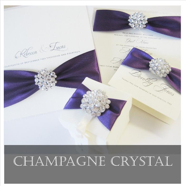 Diamante Crystal Wedding Invitations | Amor Designs