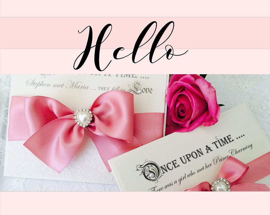 Stylish luxurious wedding invitations handmade in the UK