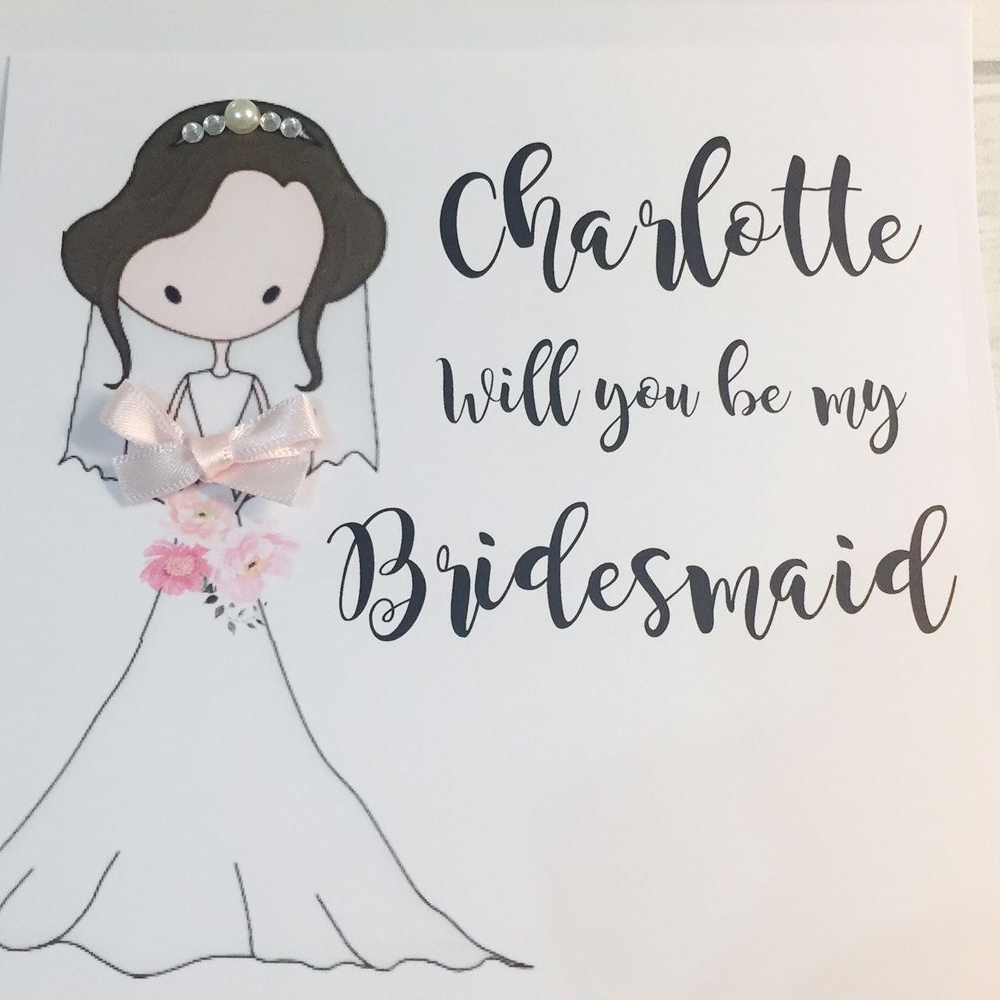 Cards for Bridesmaids, Maid of Honour and Flowergirls