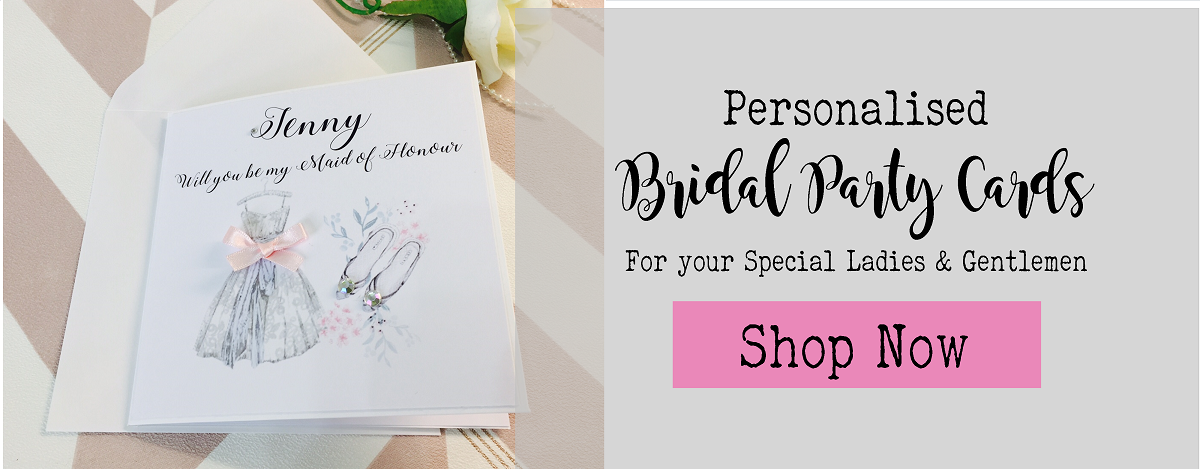 Bridal party cards for Bridesmaids and Bestman