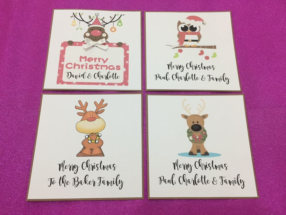 Personalised Christmas Cards with personalised Envelopes