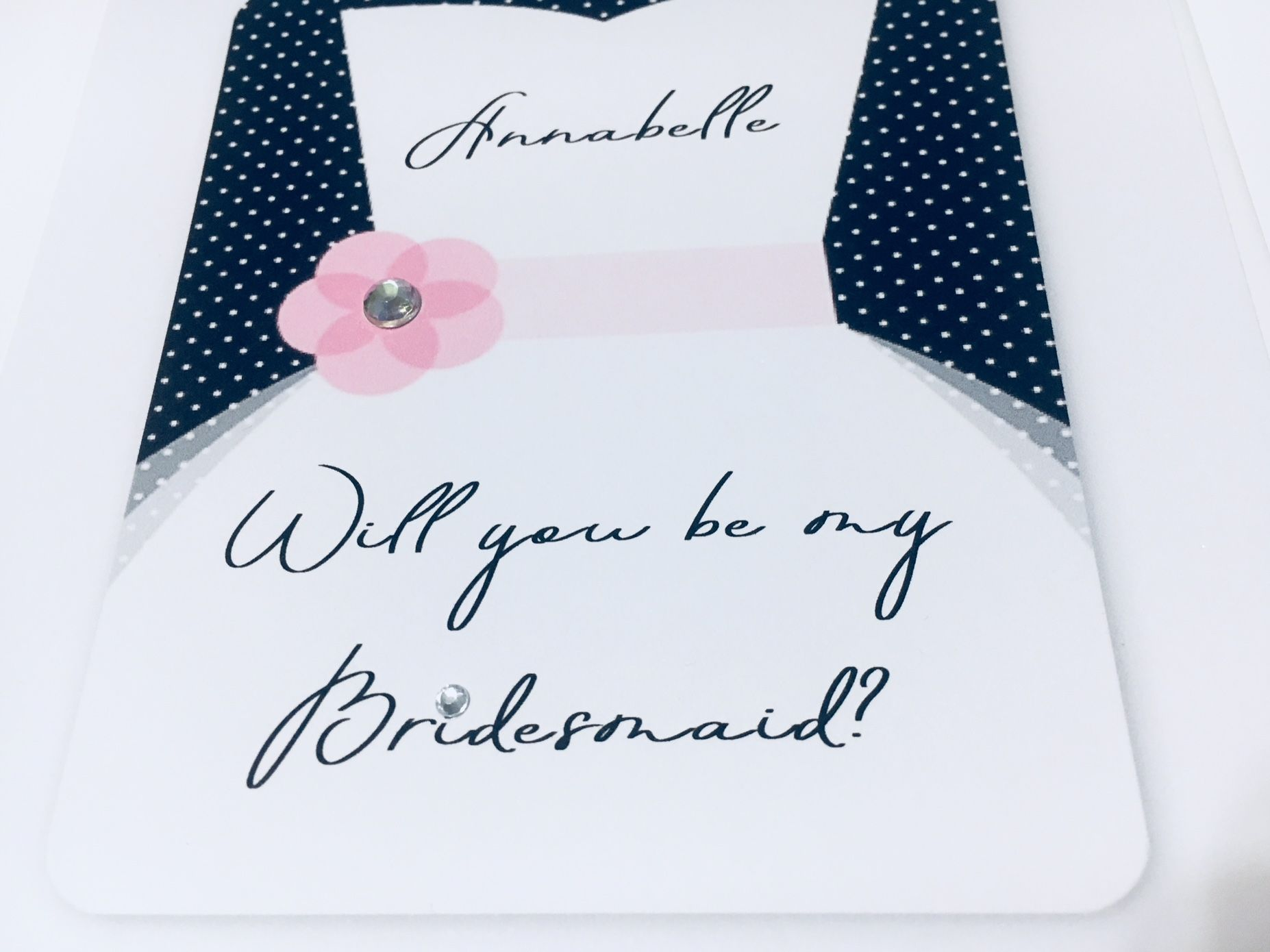 Modern Will you be my Bridesmaid card
