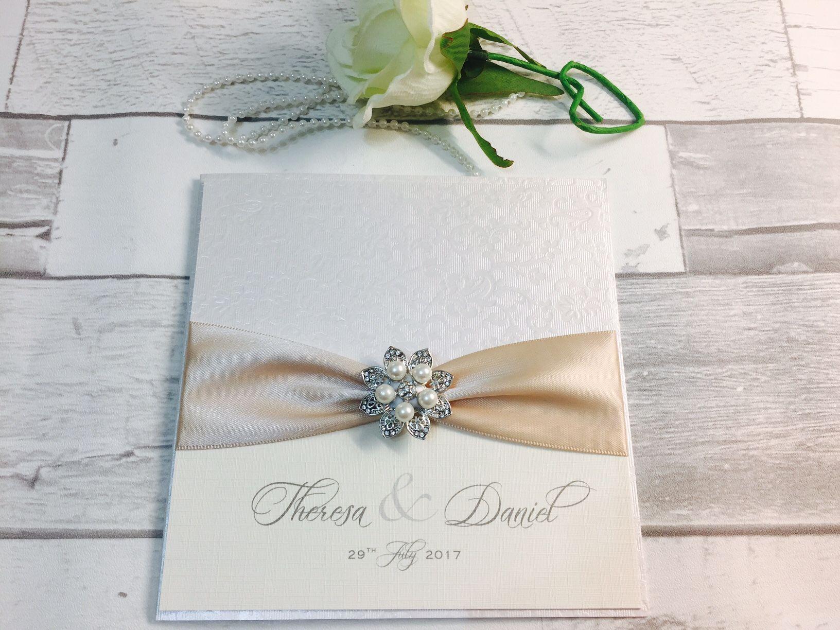 Vintage style wedding invitations UK
