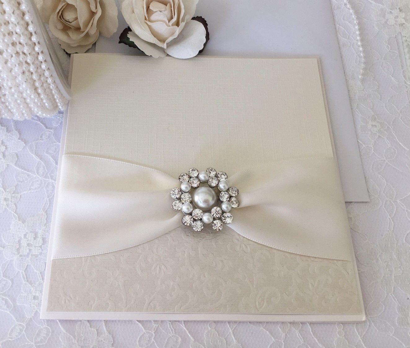 Ava pearl luxury vintage invitation