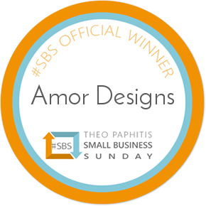 Amor Designs Thoe Paphitis small business sunday winner