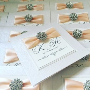 Monogram Wedding Invitation Sample