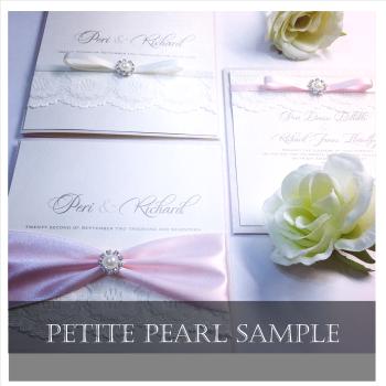 Petite Pearl Luxury Wedding Invitation Sample