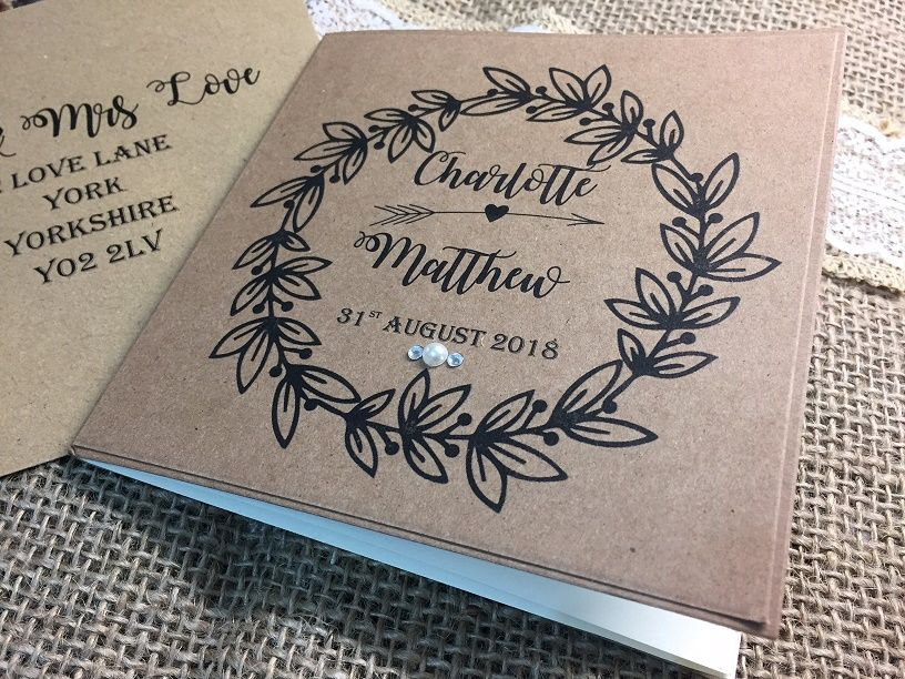 Rustic style wedding invitations
