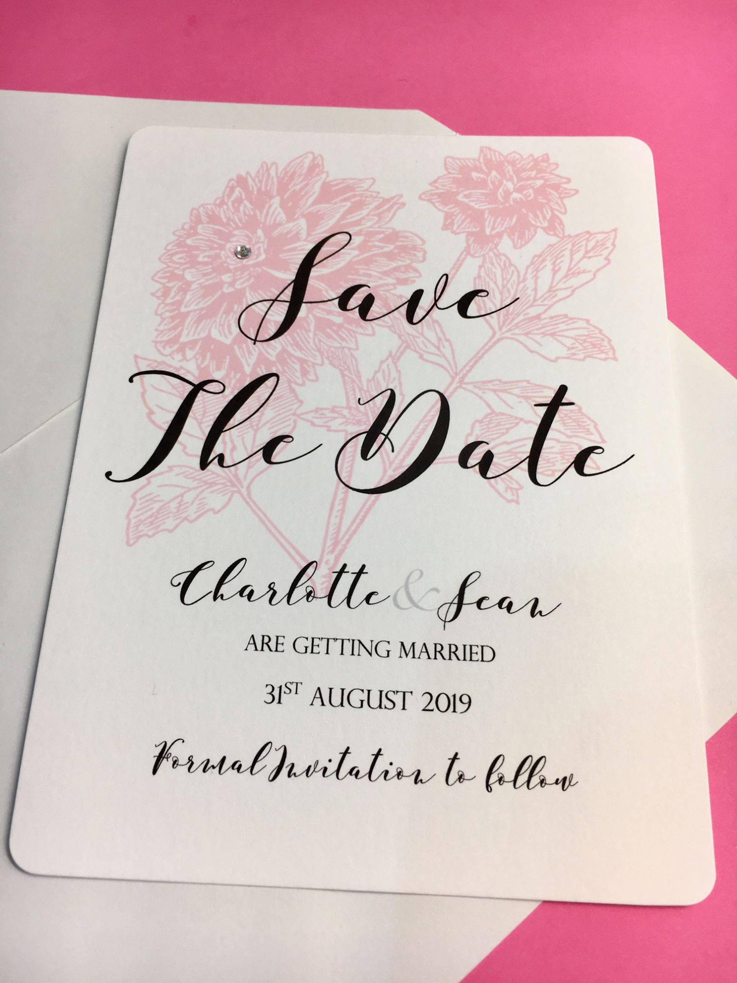 Save the date wedding cards pack of 10