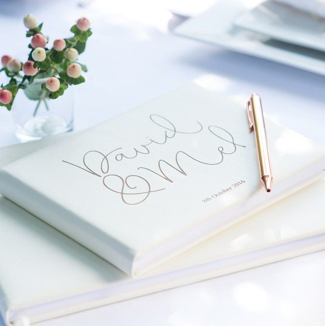 personalised leather guest books
