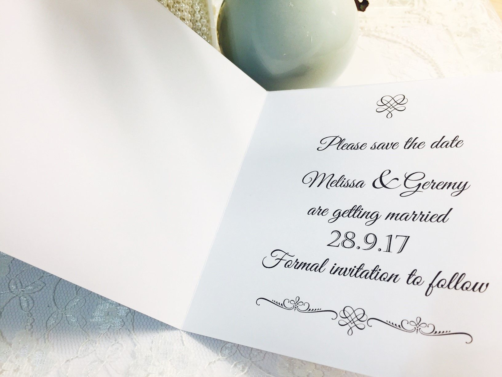 Traditional opening invitation card