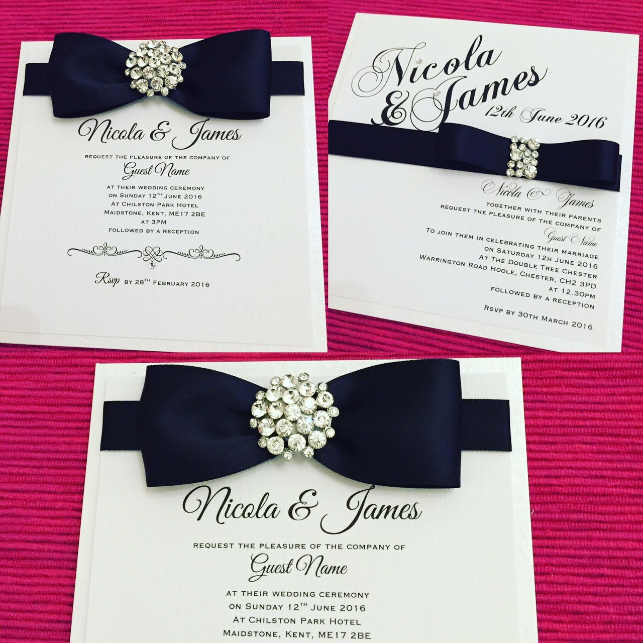 stylish and luxurious wedding invitations