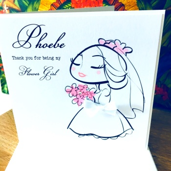 Bridesmaids or Maid of Honour Thank You Card