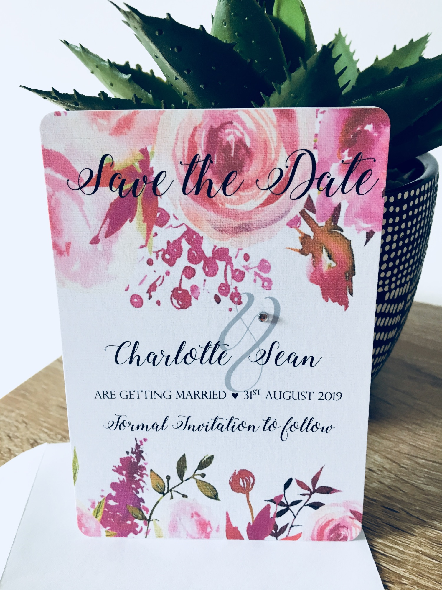 Save the date wedding cards pack