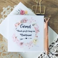 Thank You for being My Bridesmaids Maid of Honour Personalised Card