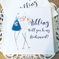 Best Friend Will you be my Bridesmaid Keepsake Card
