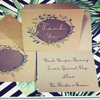 Rustic Thank You Cards Personalised Pack of 10