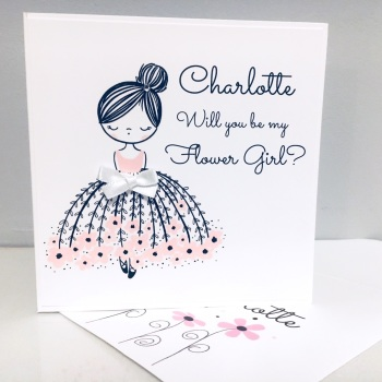 Will You Be my Flower Girl Personalised Card