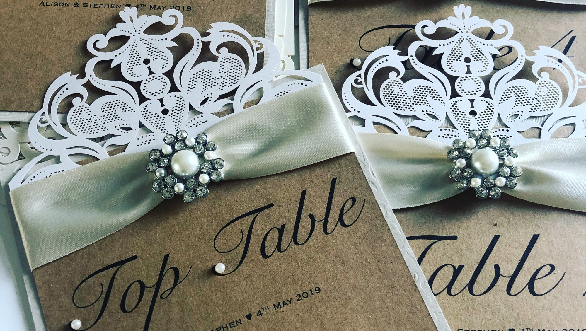 Rustic style Table Name cards for seating plan